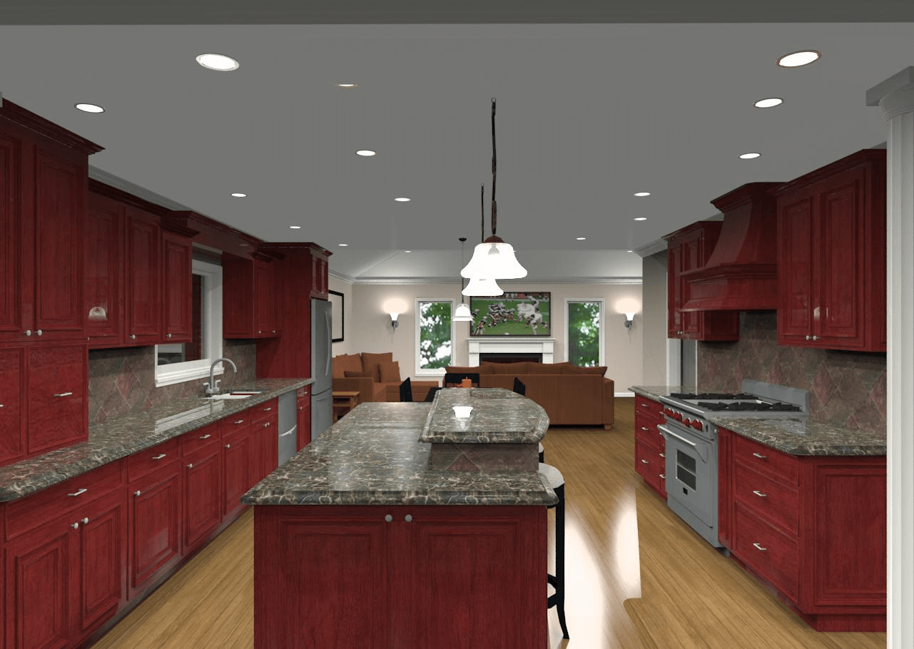 2 Tier Kitchen Island Design With Granite Counter Top And Seating Fascinating Kitchen Island Design With Seating Review