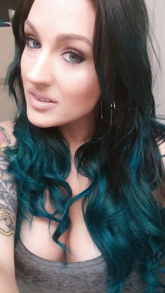 Aquamarine Teal Ombre Hair Color Love It Kylie Jenner Inspo Used Adore Haircolor