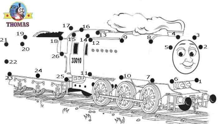 Print out sheet game Thomas and friends Neville the train