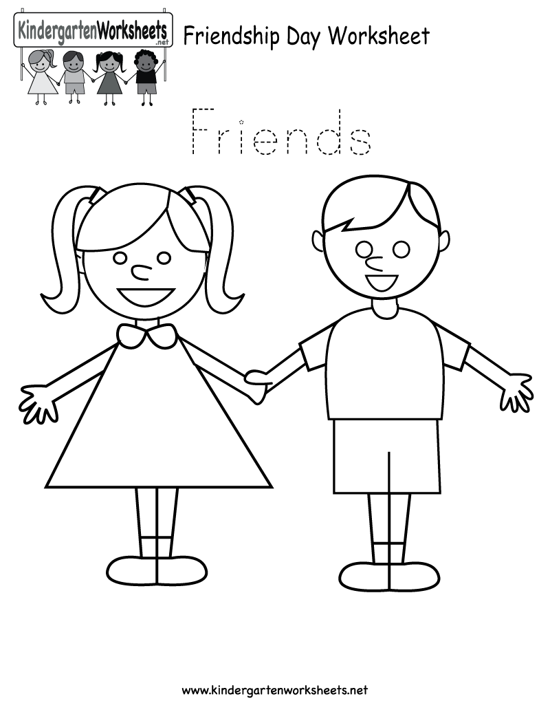 Friendship Worksheets For Kindergarten