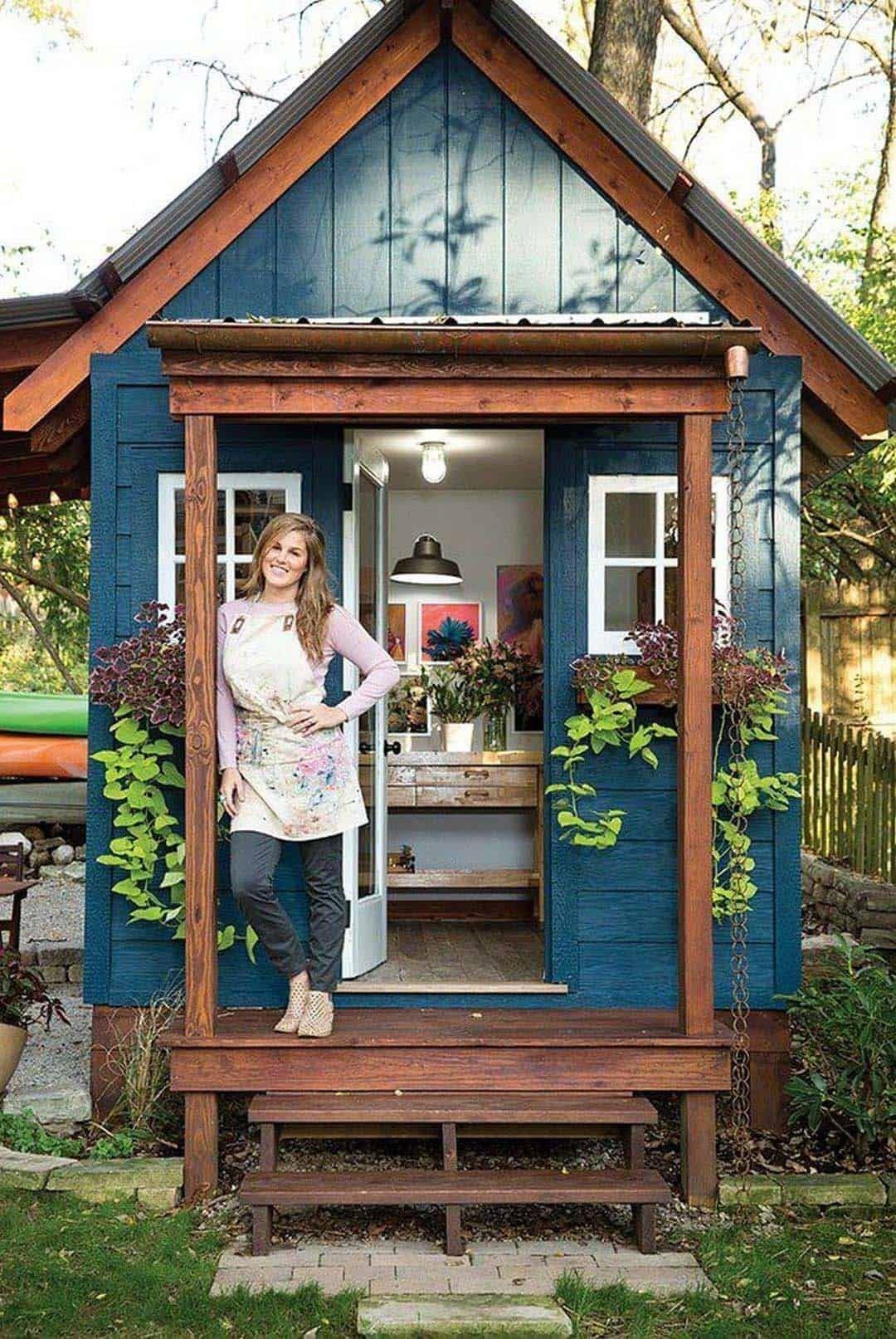 30 Wonderfully Inspiring She Shed Ideas To Adorn Your Backyard Shed Decor Shed Design Backyard Storage
