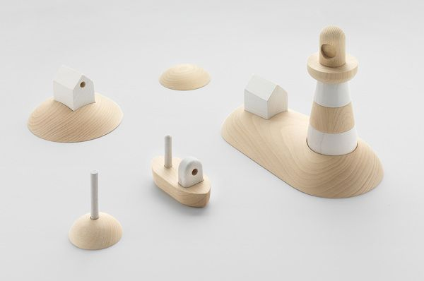 ARCIPELAGO, set of wooden toys by Permafrost, via Behance
