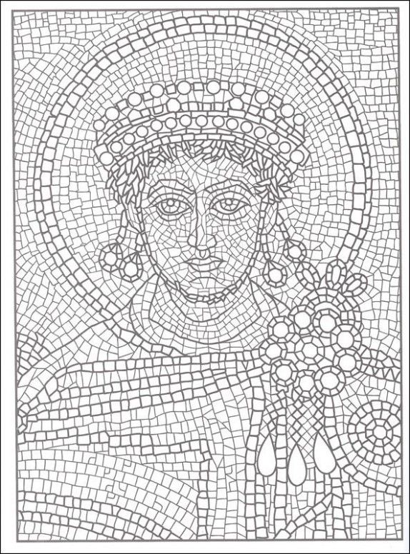 How I Successfuly Organized My Very Own Printable Roman Mosaic Coloring Pages Coloring Roman Mosaic Mosaic Patterns Mosaic Drawing