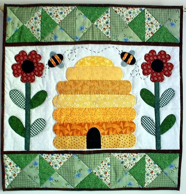 Bee Hive Wall Quilt - my signature quilt. The first thing I see ... : bee quilt pattern - Adamdwight.com