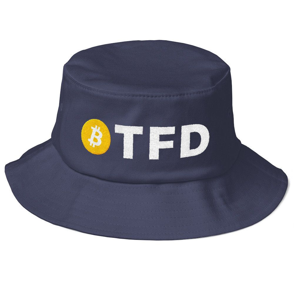 btfd bitcoin hat cryptocurrency coin logo bucket sessions cap