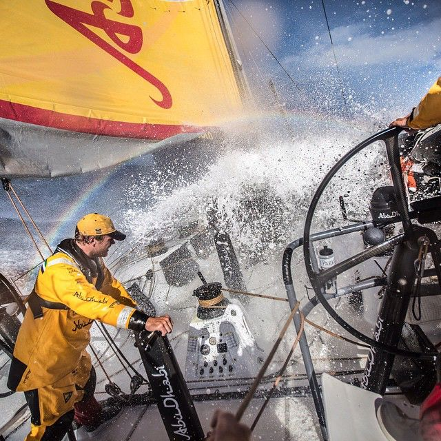 It's a roller coaster ride! Photo by Matt Knighton / Abu Dhabi Ocean Racing #volvooceanrace #sailing #waves