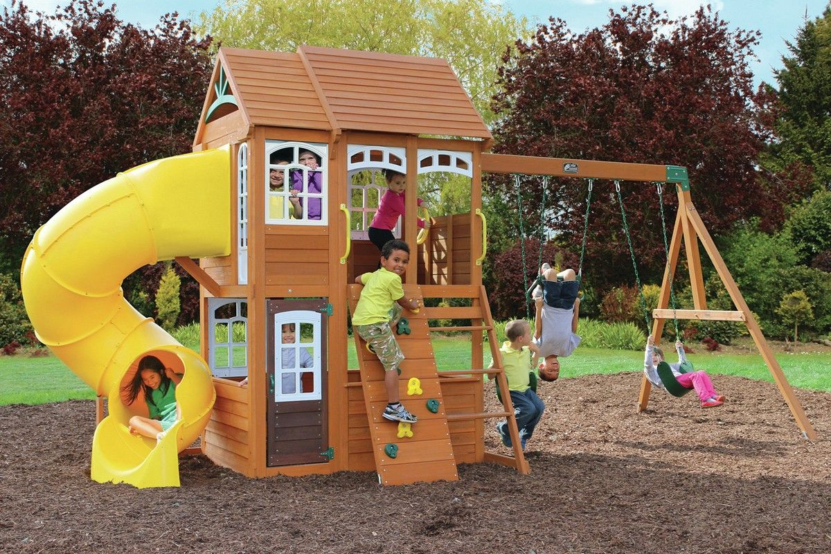 Richmond Lodge Climbing Frame   Climbing frames, Cubby houses and House