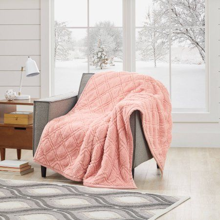 cb9c7d8cff707a022ee8d34158fb6f85 - Better Homes And Gardens Quilted Sherpa Throw Blanket Blush