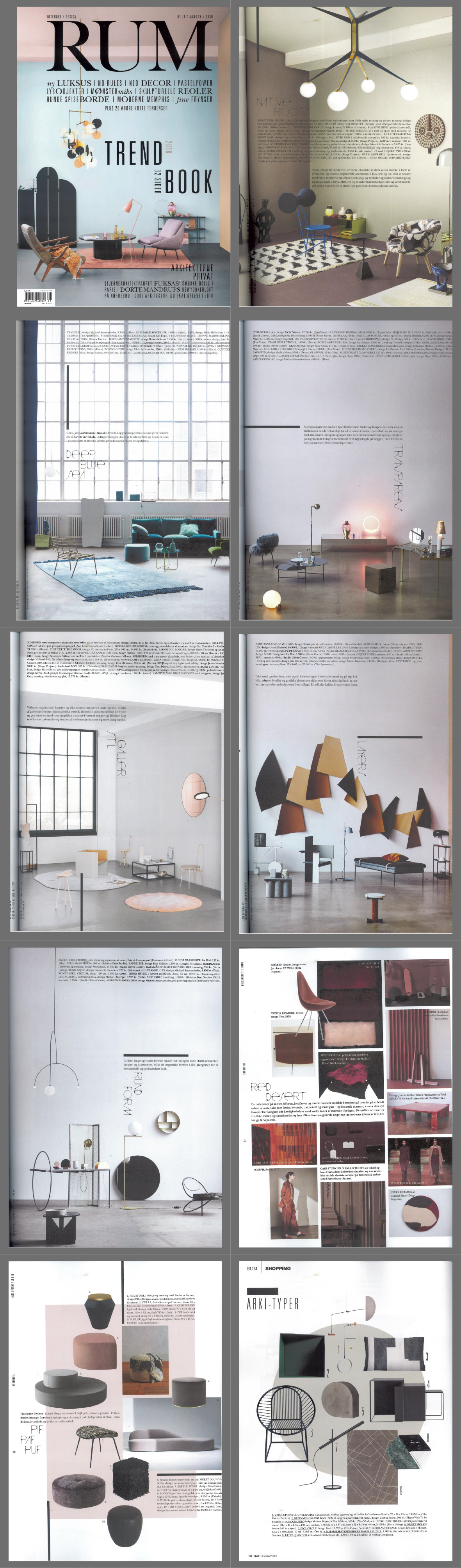 Plenty Of AYTM To Be Found In The January Edition Danish Interior Design Magazine