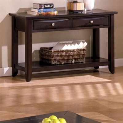 Baldwin Espresso Finish Console Table You Can Find Out More Details At The Link Of The Image Note It Furniture Of America Top Quality Furniture Sofa Table