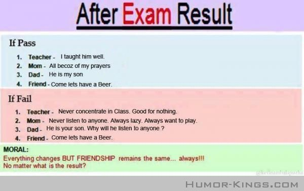 Things To Learn After Exam Result Exam Quotes Exam Results School Quotes Funny