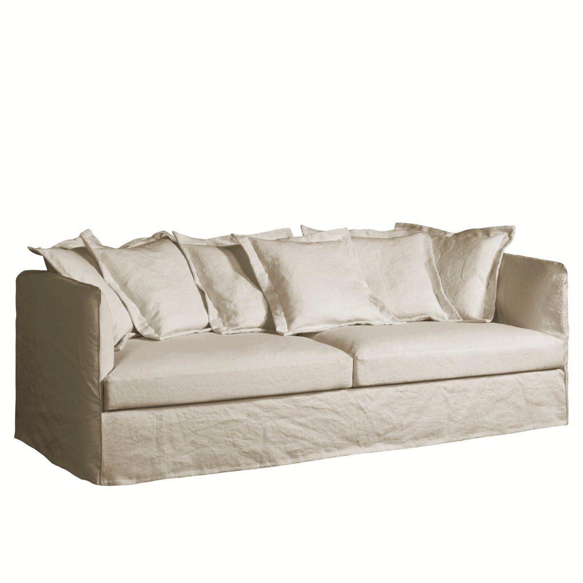 Canapé Moelleux Assise Profonde canapé néo chiquito lin froissé, am.pm   furniture, home