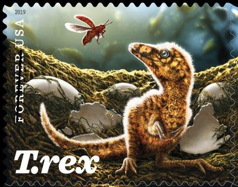 Sello: Tyrannosaurus Rex - Juvenile (Estados Unidos) (Tyrannosaurus rex (2019)) Col:US 2019-26a #tyrannosaurusrex Sello: Tyrannosaurus Rex - Juvenile (Estados Unidos) (Tyrannosaurus rex (2019)) Col:US 2019-26a #tyrannosaurusrex