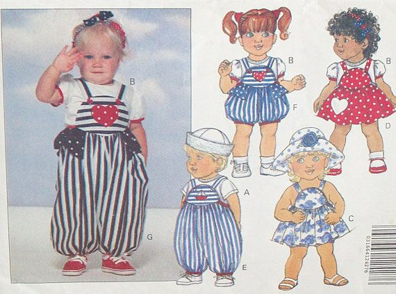 Butterick 5929 Sewing Pattern For Infants At Eight Mile