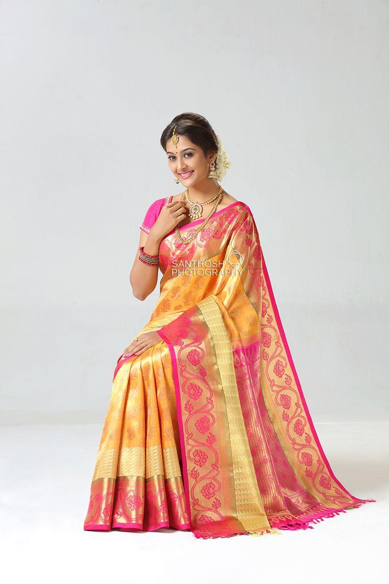 3d5878212a Silk saree photography.Silk Saree Photoshoot. #silk #saree #kanchipuram # weddingsarees #wedding #pattu #jewellery #indian #female #model #latest #  ...