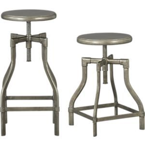 Turner Gunmetal Adjustable Backless Counter Stool Reviews
