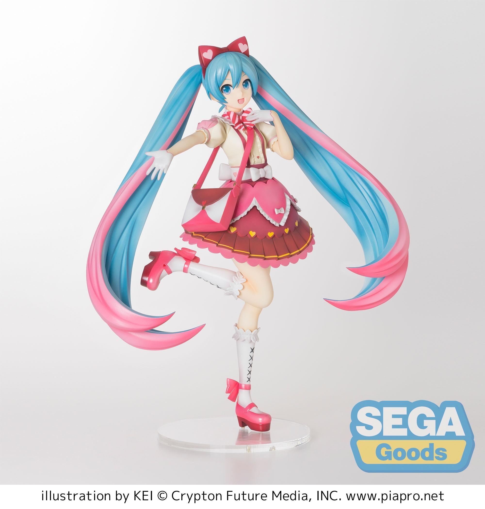 Photo of Sega: Vocaloid – Super Premium Miku Hatsune Ribbon x Heart Figure