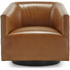 Mitchell Gold + Bob Williams Cooper Return Swivel Leather
