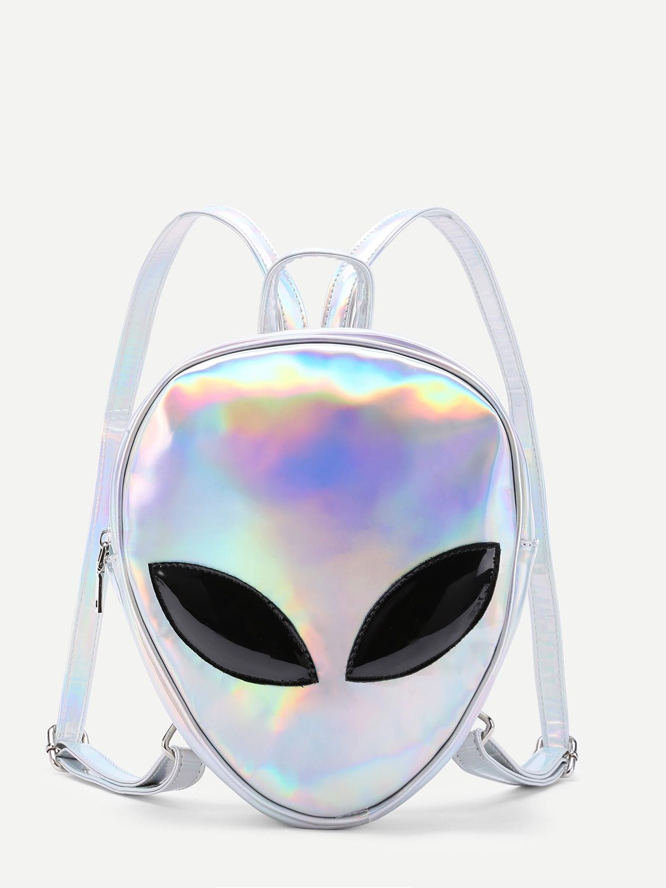 Pu BackpackMochilas Iridescent Shaped Alien Iridescent IfgvyYb67