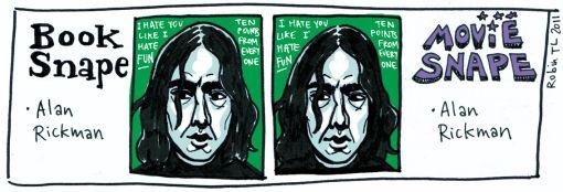 Book Snape, Movie Snape #HarryPotter #Snape