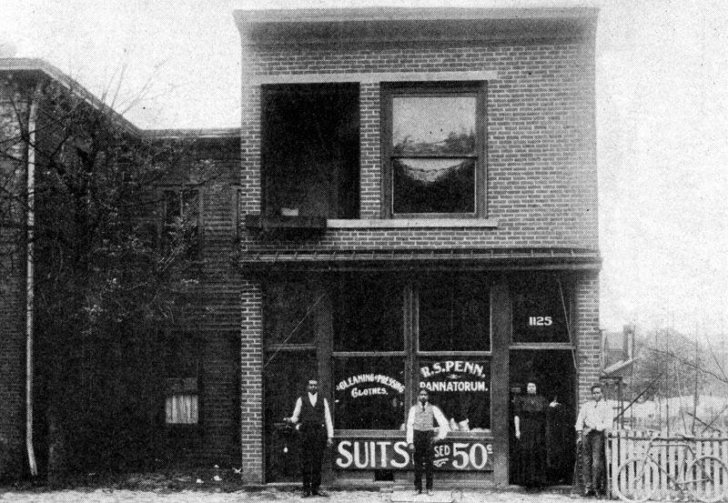 1125 Washington St E, 1907. A blackowned business, Site