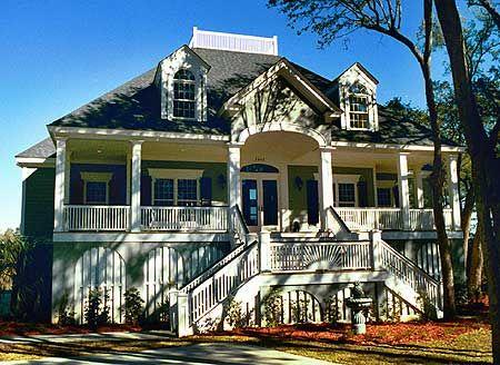 charleston style house plan - house style