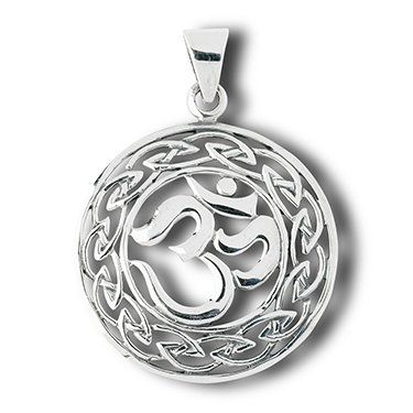 Om hindu and celtic knot sterling silver charm pendantre info for om hindu and celtic knot sterling silver charm pendantre info for nice necklaces aloadofball Images