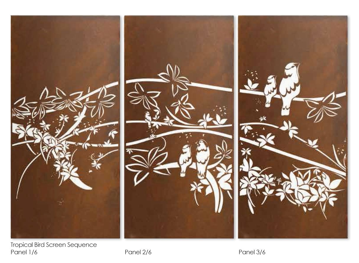 Garden Screen Designs garden screens Garden Screen Sequence Laser Cut Privacy Screens
