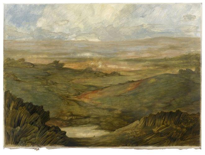 zonder titel, 2012, tempera op geprepareed papier, 78 x 110 cm - Tinus Vermeersch