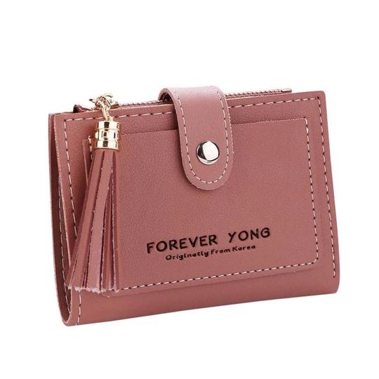 Women Wallet 2018 Tassels Retro Letters Short PU leather Wallets small Delicateintothea #leatherwallets