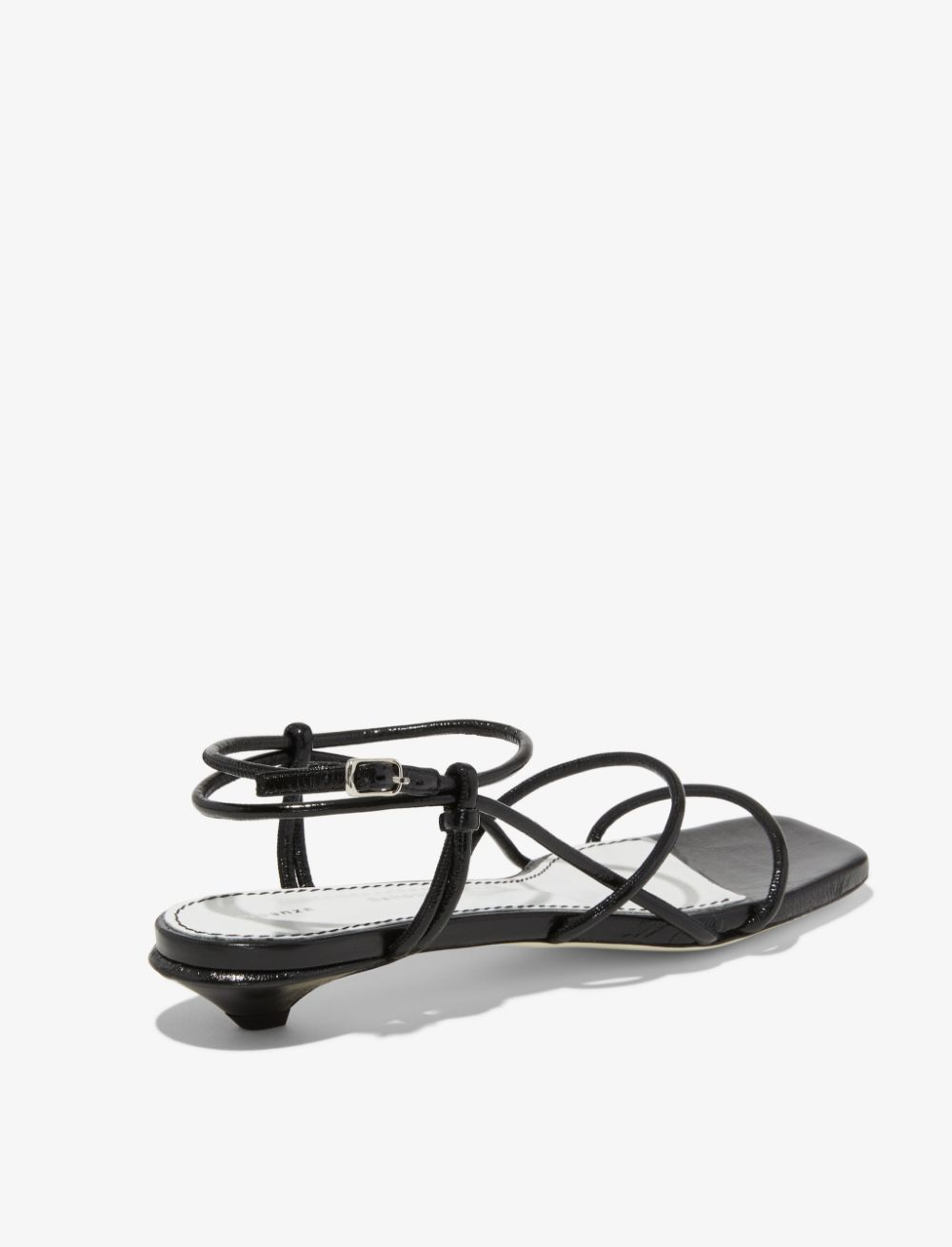 999 Black Strappy Low Kitten Heel Sandals From Proenza Schouler