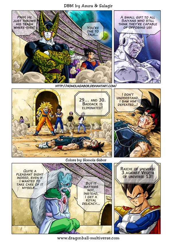 """Dragon Ball Multiverse, or for short, (""""DBM"""") a sequel of the Dragon Ball manga, is a free online dojinshi (fan made comic in Japanese) (manga created by non-professionals, using a universe and characters which are not theirs), made by Salagir and Gogeta Jr, from France. Salagir is the author and co-creator of the Dragon Ball Multiverse fan manga. While Asura is now the main artist (taking the place of Gogeta Jr.). The main plot revolves around a variety of universes. The strongest of each…"""
