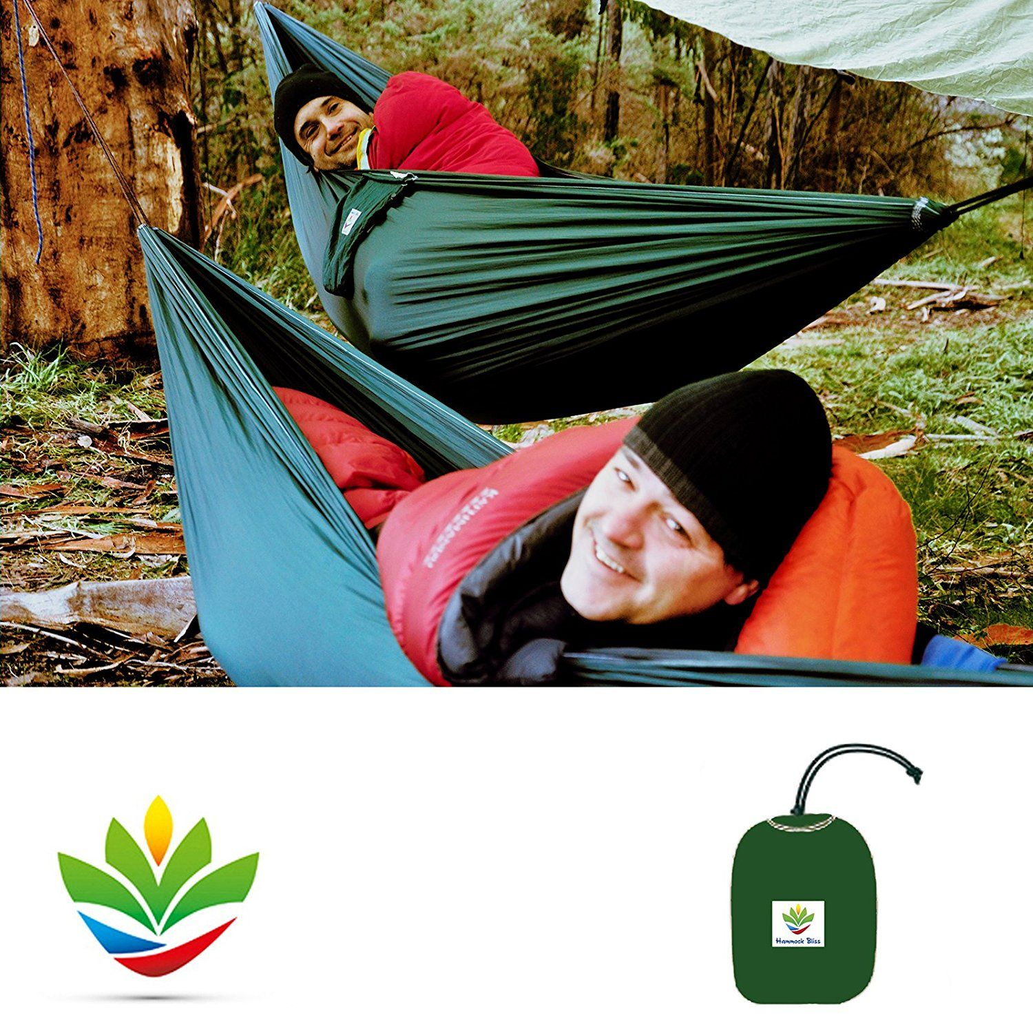 Hammock Bliss Single Quality You Can Trust 100 Rope Per Side Included Portable Hammock Ideal For Camping Backpackin Kayak Trip Portable Hammock Hammock