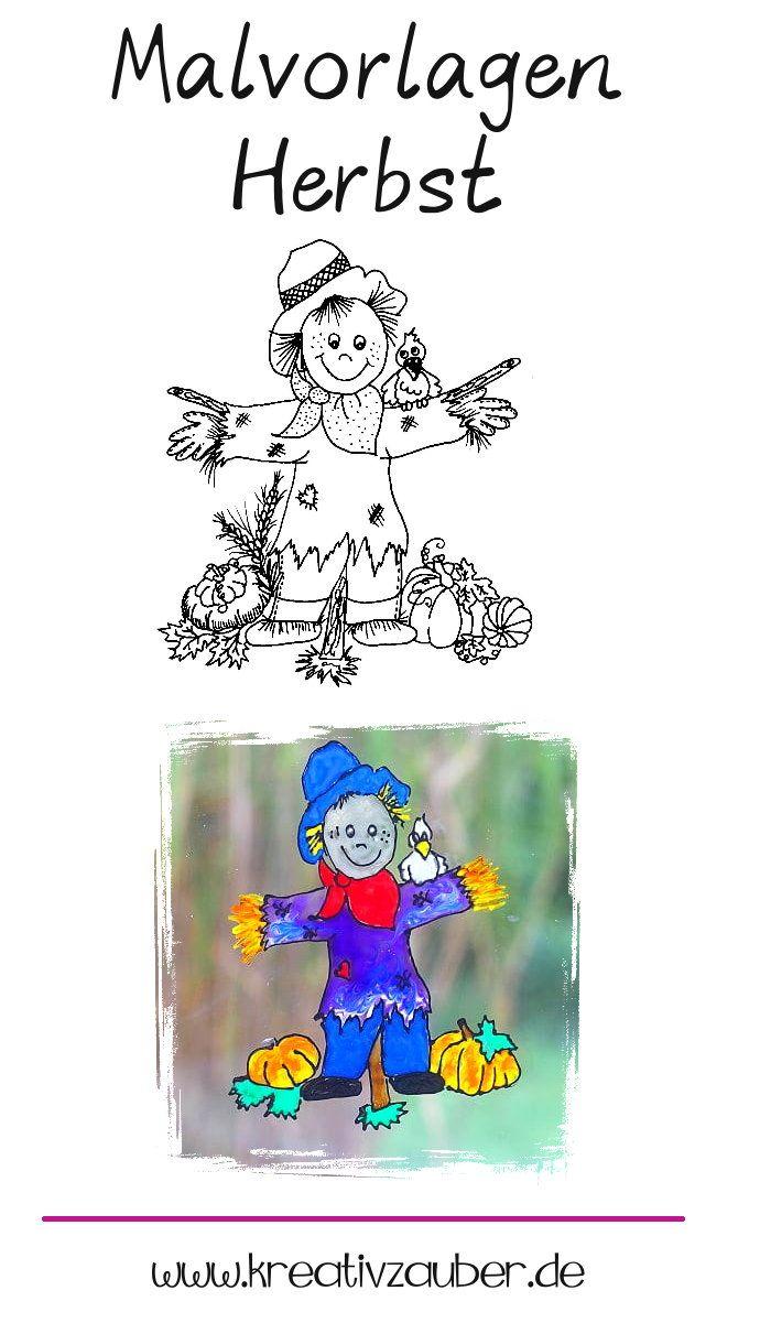 ausmalbilder herbst  malvorlagen  kreativzauber