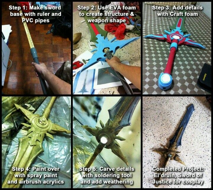 How to create a basic foam sword tutorial part 2 of 3 youtube.