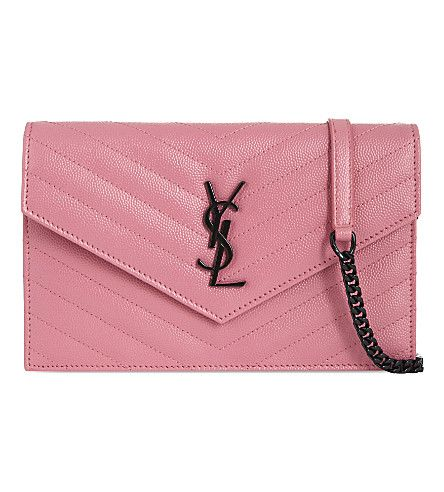 SAINT LAURENT Monogram Quilted Leather Envelope Cross-Body. #saintlaurent #bags #leather #charm #accessories #