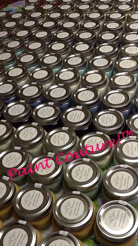 52 color sample sizes in generous 8oz Mason jars!  #paintcouture