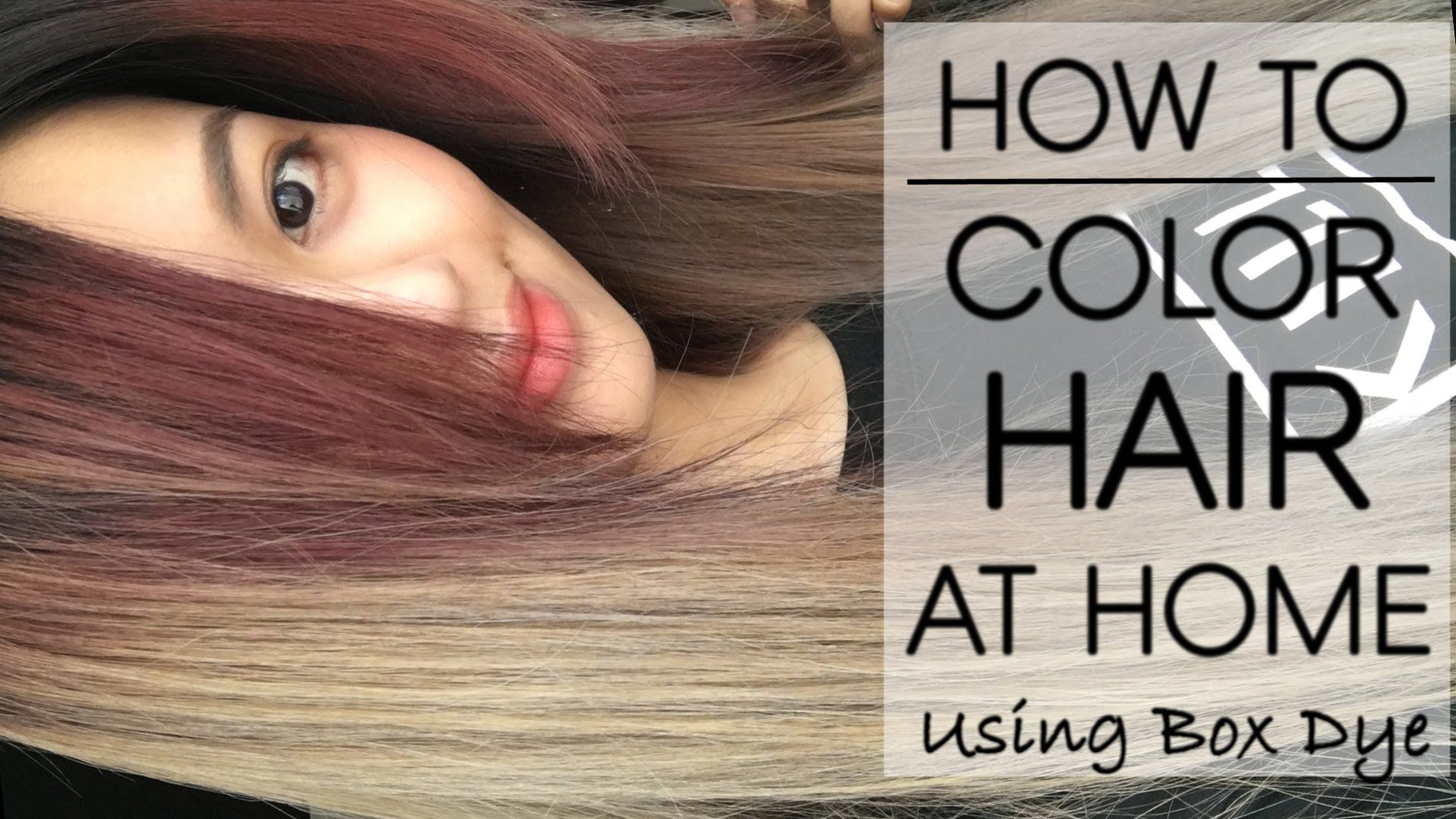 This tutorial I\'ll show you how to Color Your Hair/Roots At Home ...