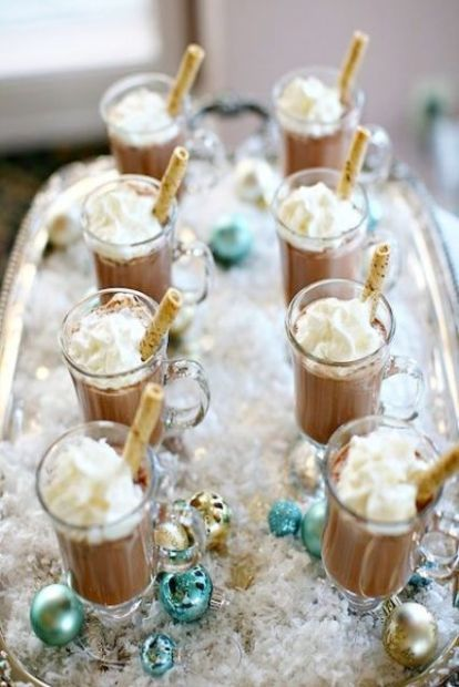 21 Hot Chocolate Bar Ideas For Your Winter Wedding #hotchocolatebar