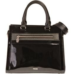 Photo of Check Karen Patent Leather Bag Black Check