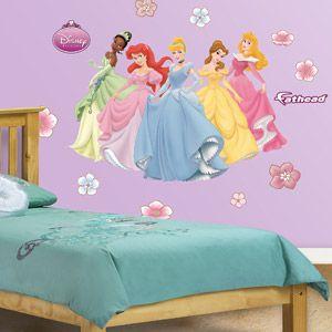 Fathead Jr Disney Princess Wall Decal Walmart Com Disney Princess Bedroom Disney Princess Room Decor Disney Princess Wall Decals