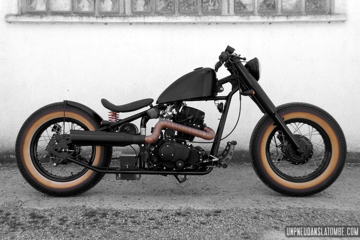 Hoolister Heist 125 fa  on bobber vintage  sign  e Racer Factory   Bobbers  Choppers and Bobber