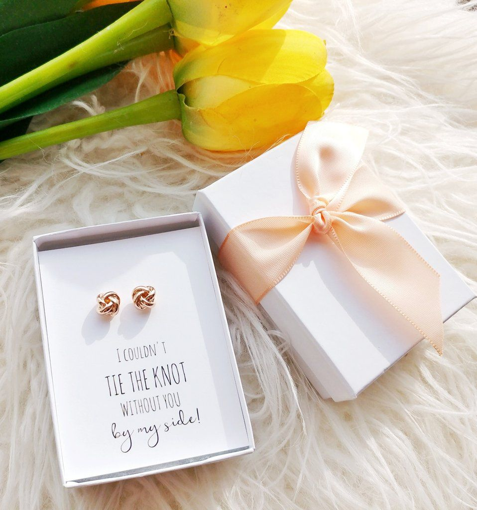 These knot stud earrings are the perfect way to pop the question to ...