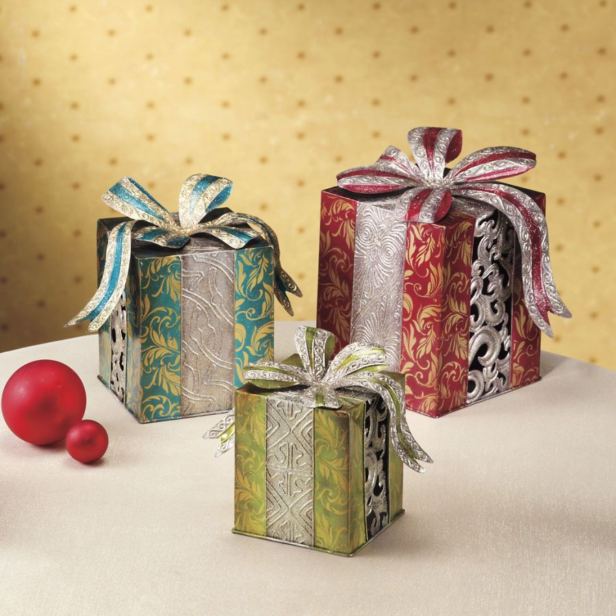 Decorated Gift Boxes Set Of Three Decorative Gift Boxes  Stylish Home Accents And