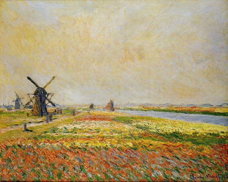 Claude Field of Flowers and Windmills near Leiden