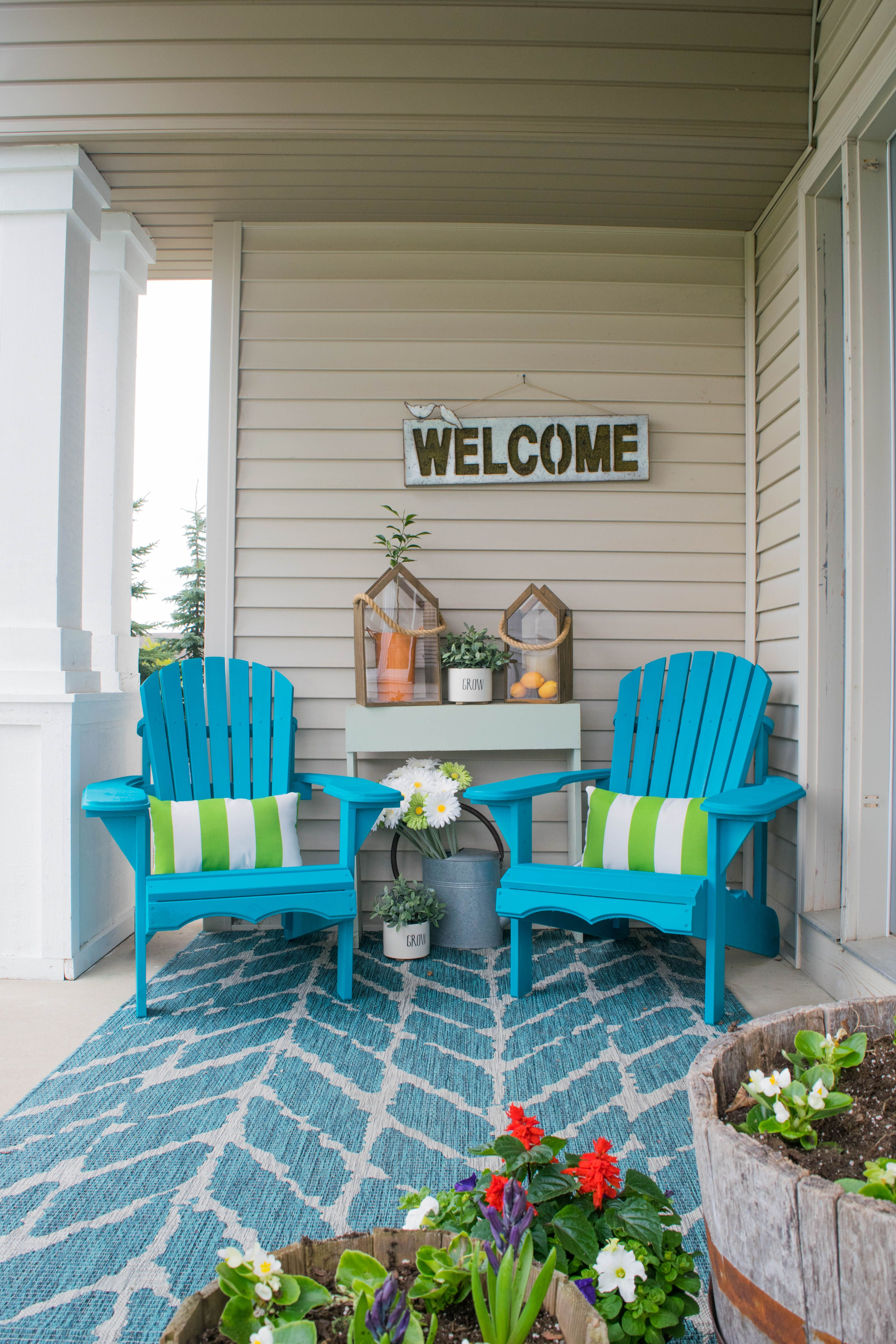 Spring front porch decorating ideas These DIY