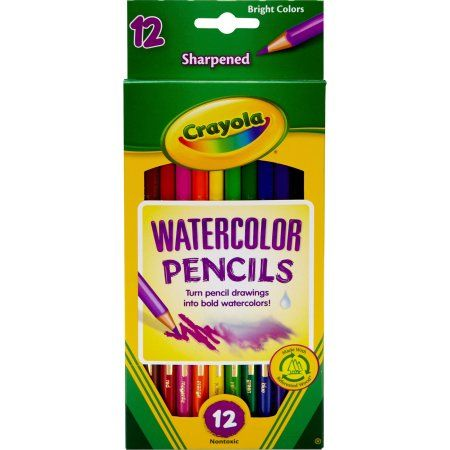 Crayola Watercolor Woodcase Pencils 12 Assorted Colors 2019