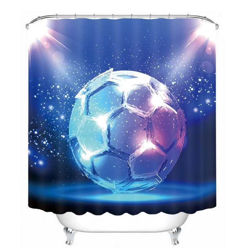 Magic Dreamy Soccer Printing Bathroom 3d Shower Curtain Shower