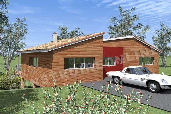 Plan De Maison Contemporaine Bois Pilotis Podihome Vue Arriere Plan Maison Contemporaine Plan Maison Bois Plan De Maison Americaine