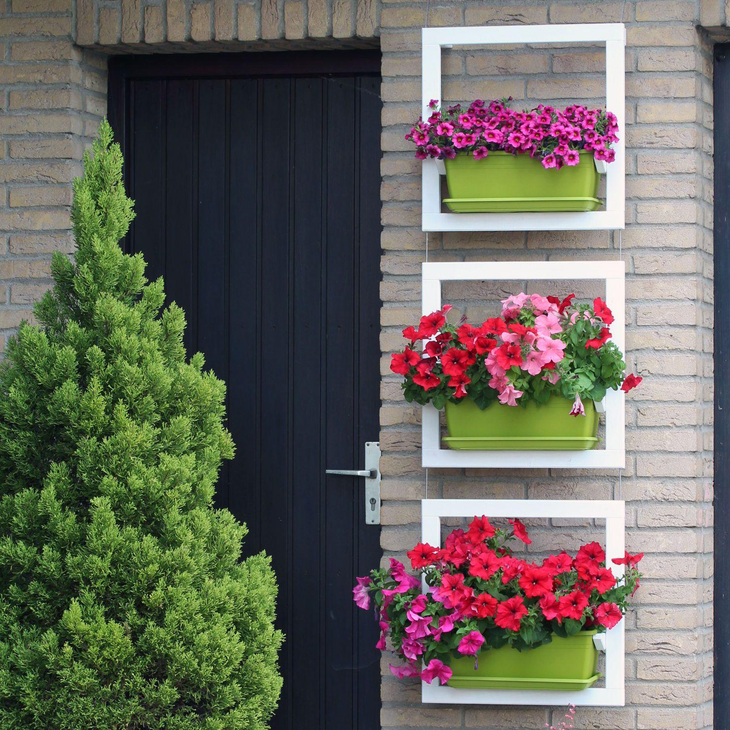 Blumenrahmen 3-fach, Kräuterschaukel, wooden-boards | Garten | Pinterest